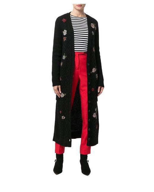RED Valentino - Women's Black Wool Cardigan - Lyst
