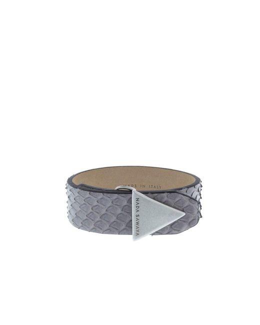 Nada Sawaya   Gray The Simple - Python And Satin Black Nickel-tone Bracelet   Lyst