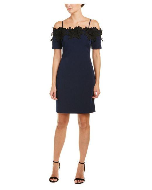 Belle By Badgley Mischka - Blue Sheath Dress - Lyst
