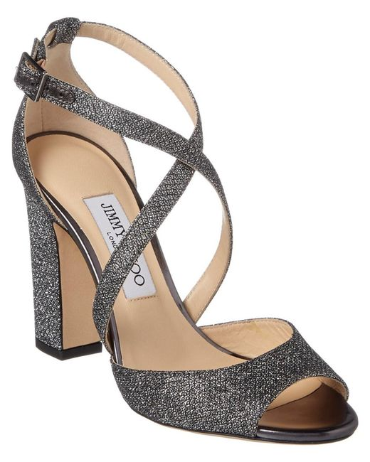 Jimmy Choo - Multicolor Carrie 100 Strappy Heeled Lame Glitter Sandal - Lyst