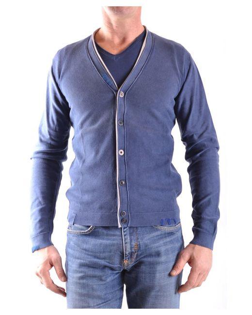 Fred Mello - Men's Blue Cotton Cardigan for Men - Lyst