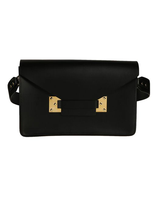 Sophie Hulme - Women's Black Leather Shoulder Bag - Lyst