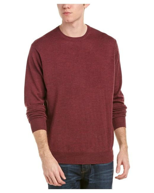 Peter Millar - Red Crown Soft Merino Wool & Silk-blend Crewneck Sweater for Men - Lyst