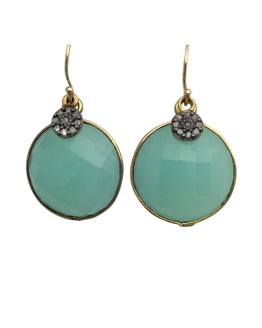 Blue Candy Jewelry   Metallic Lollipop Gemstone Earrings With Pave Diamond   Lyst