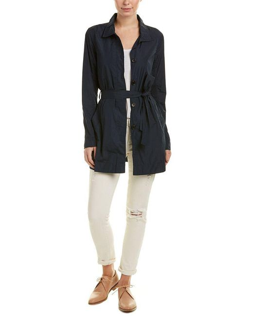 James Perse - Blue Yosemite Performance Trench Coat - Lyst