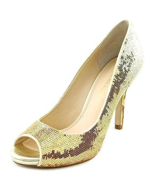 Enzo Angiolini - Metallic Womens Maiven Leather Peep Toe Classic Pumps - Lyst