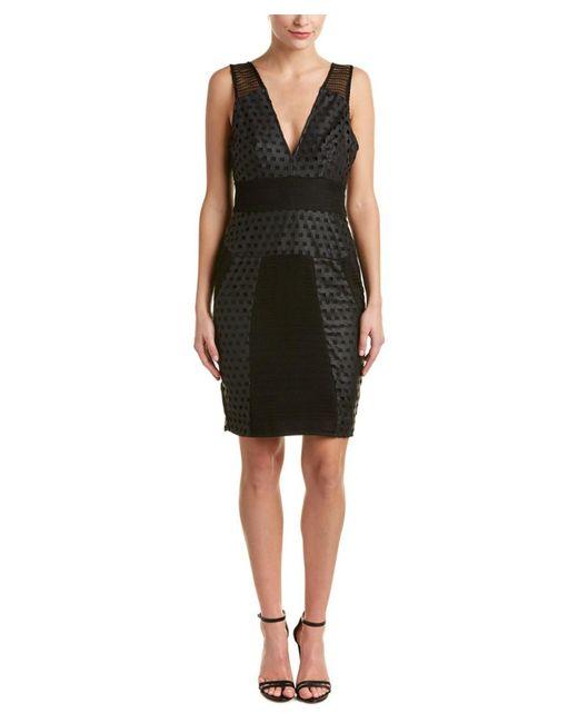 Kendall + Kylie - Black Laser Cut Sheath Dress - Lyst