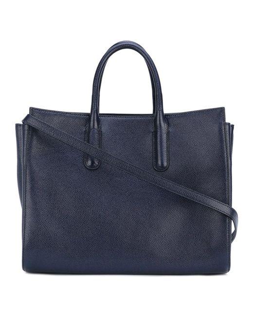 Max Mara - Women's Blue Leather Handbag - Lyst