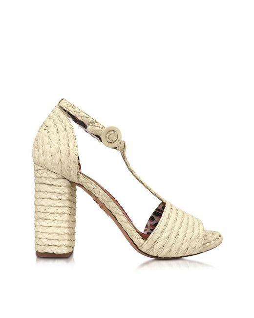 Charlotte Olympia - Brown Women's Beige Polyamide Sandals - Lyst