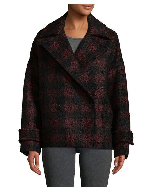 IRO - Black Tesye Wool Coat - Lyst