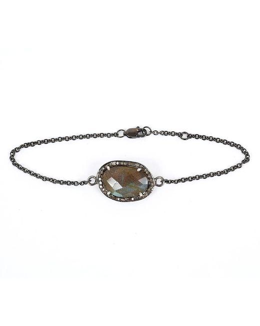 Adornia | Gray Labradorite And Champagne Diamond Dree Bracelet | Lyst