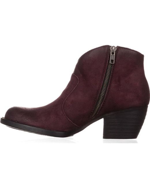 Born - Red Womens Michel Almond Toe Ankle Fashion Boots - Lyst