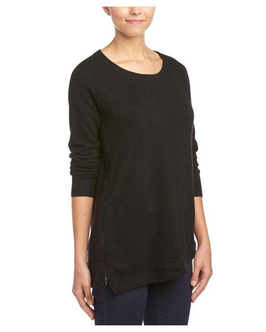 White + Warren | Black Cashmere Tunic Sweater | Lyst