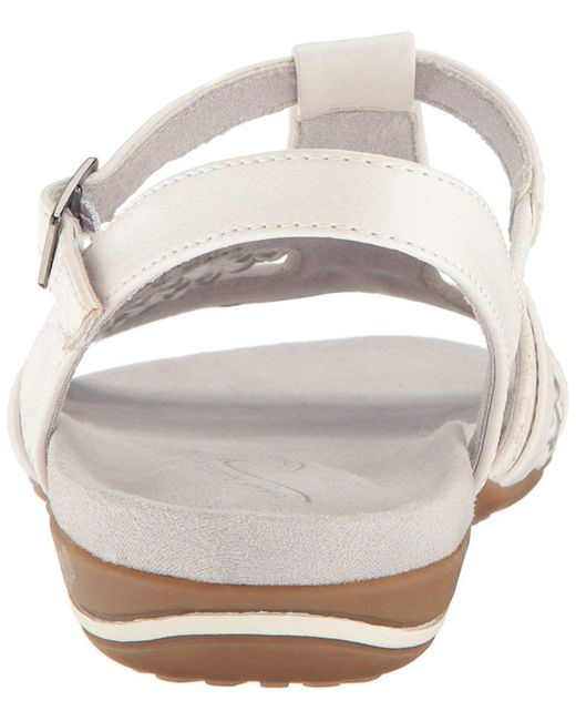 cede03d68a04 ... Easy Street - White Womens Parker Open Toe Casual Ankle Strap Sandals -  Lyst