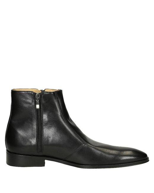 Leonardo Shoes - Men's Black Leather Ankle Boots for Men - Lyst