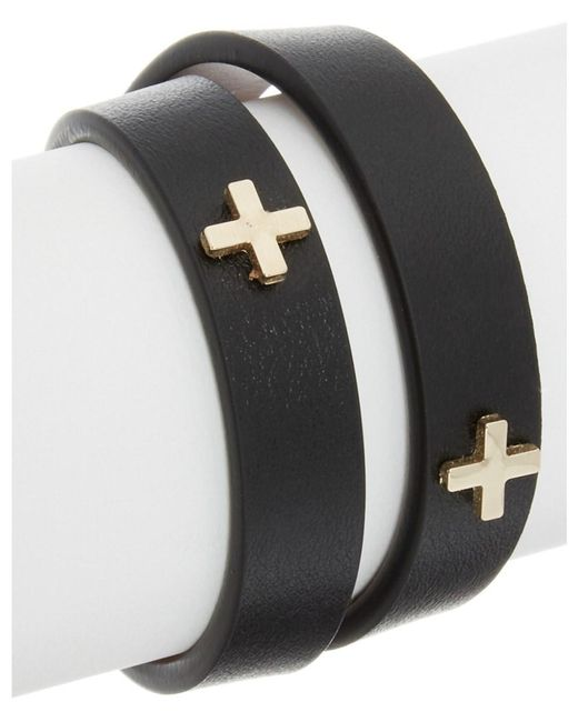 Givenchy - Black Micro Cross Embossed Leather Choker - Lyst