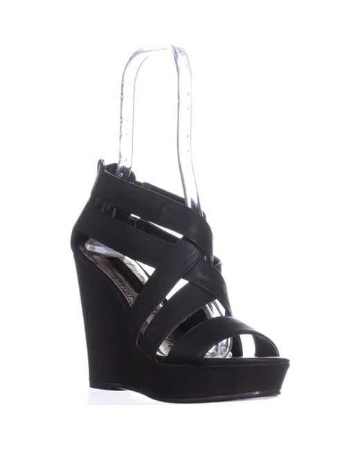 Material Girl - Mg35 Maxel Platform Strappy Sandals, Black - Lyst