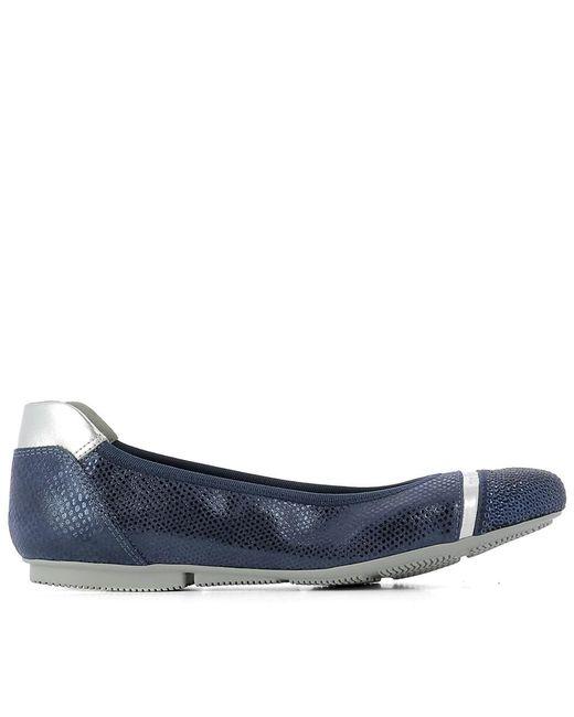 Hogan - Women's Hxw1440w950f0x8330 Blue Leather Flats - Lyst