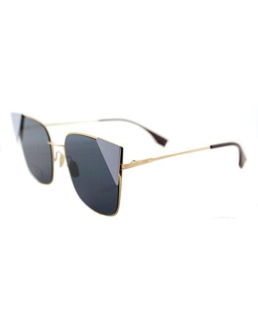 Fendi - Multicolor Ff 0191 000 A9 Rose Gold Lei Cat-eye Sunglasses - Lyst