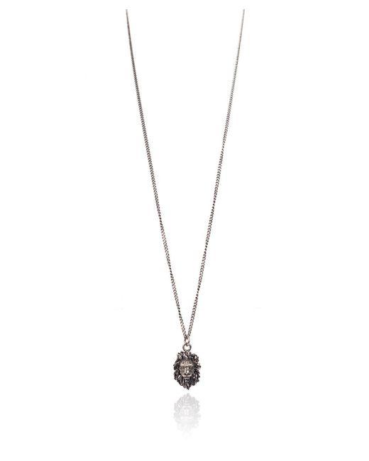 Roberto Cavalli - Metallic Aged Metal Lion Head Pendant Long Necklace - Lyst