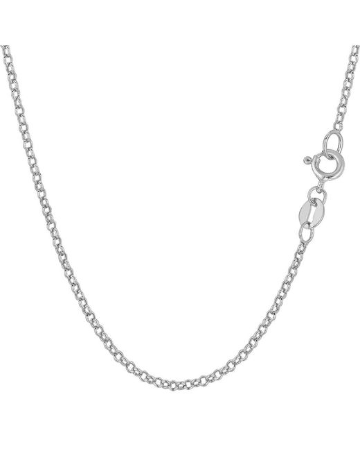 JewelryAffairs - 10k White Gold Round Rolo Link Chain Necklace, 1.9mm, 16 Inch - Lyst