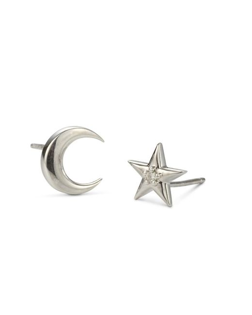Charles & Colvard - Metallic Forever Classic 3.25mm Round Moissanite Three Stone Drop Earrings, 0.78cttw Dew - Lyst