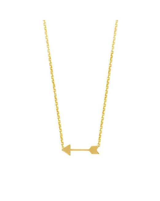 JewelryAffairs - 14k Yellow Gold Mini Arrow Pendant Necklace, 16 To 18 Inches Adjustable - Lyst