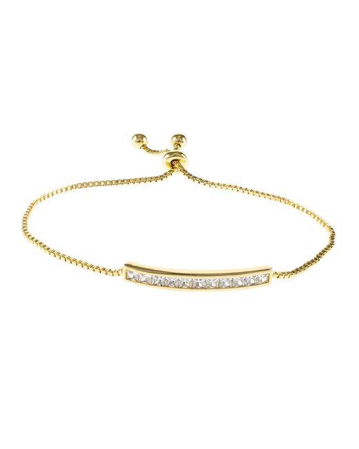 CZ by Kenneth Jay Lane   Metallic 4cttw Princess Cz Shamballa Adjustable Bracelet   Lyst