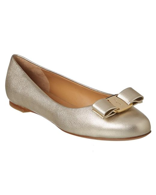 Ferragamo - Multicolor Varina Leather Ballet Flat - Lyst