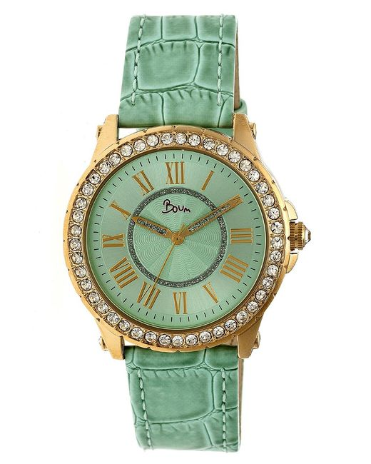Boum - Green Belle Leather-band Watch - Lyst