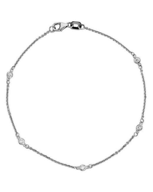 Suzy Levian - 14k White Gold 1/6ct Tdw Diamonds By The Yard Bracelet - Lyst