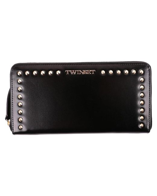 Twin Set - Women's Black Leather Wallet - Lyst
