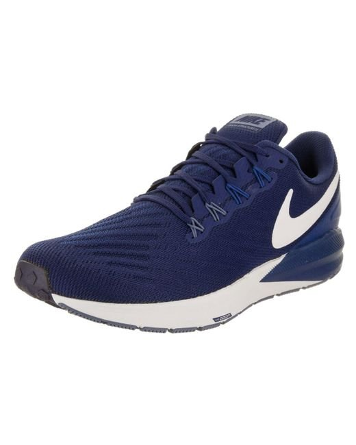 Nike - Blue Men's Air Zoom Structure 22 Running Shoe for Men - Lyst