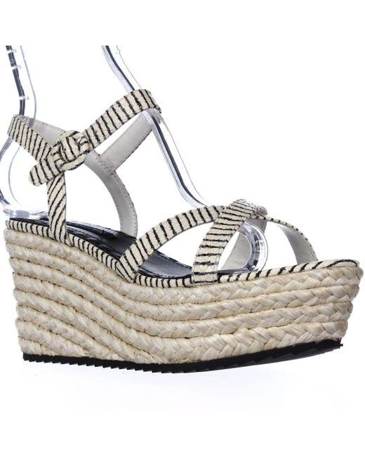 Alice + Olivia - Multicolor Alice And Olivia Rachel Espadrille Platform Sandals, Cream/black - Lyst