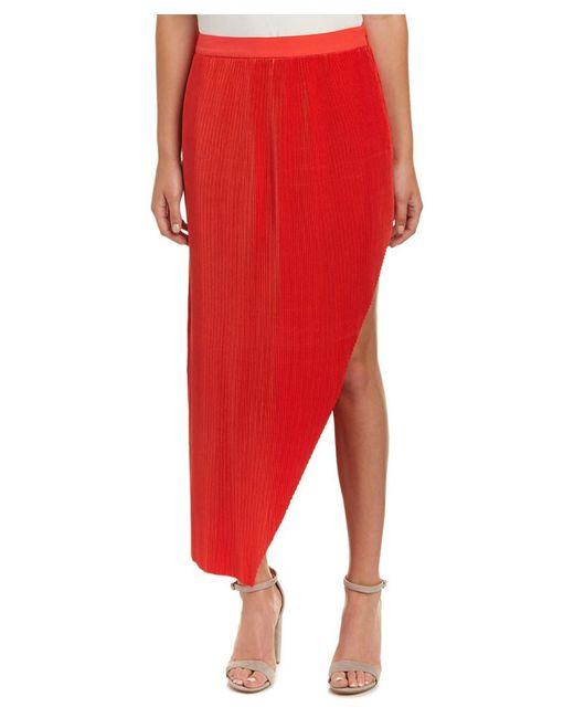Isla - Red Walk The Line Midi Skirt - Lyst