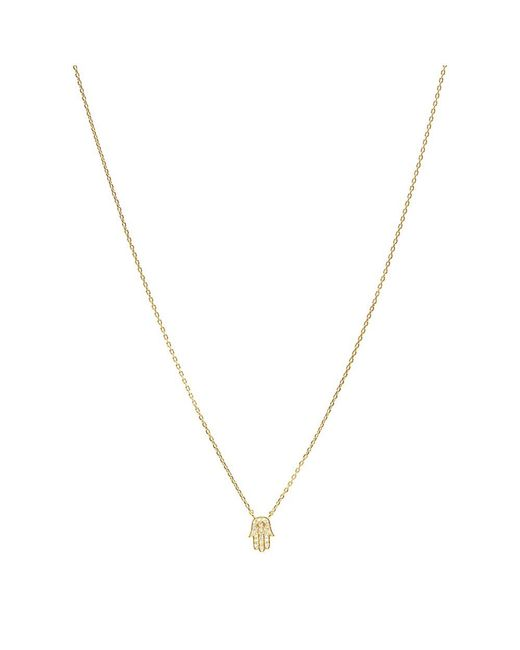 Bungalow 20 - Metallic Crystal Hamsa Necklace - Lyst