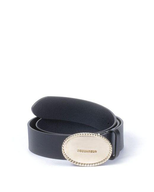 DSquared² - Women's Black Leather Belt - Lyst
