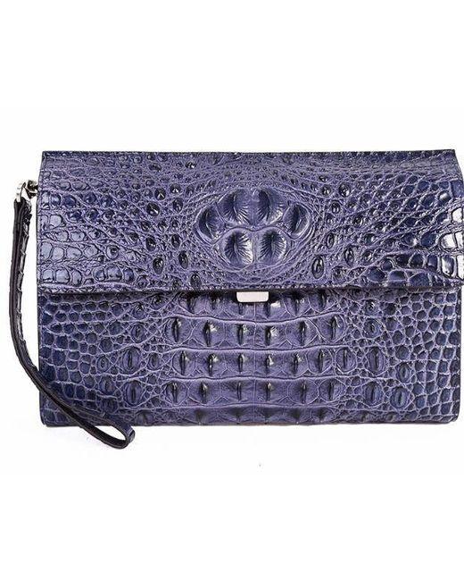 Tiffany & Fred - Blue Croco Clutch/shoulder - Lyst