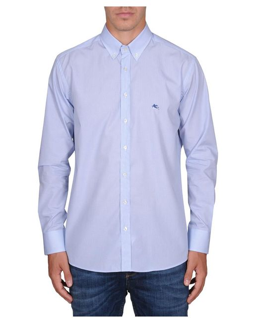Etro | Men's 163653083250 Light Blue Cotton Shirt for Men | Lyst