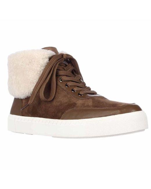Via Spiga - Brown Maia Fleece Foldover Fashion Sneakers - Rattan - Lyst