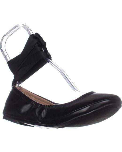 Call It Spring - Conboy Tie Up Ballet Flats, Black - Lyst