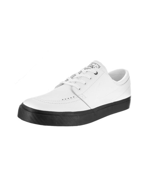 Nike - Unisex Sb Zoom Janoski Prem Cpsl White/white White Black Skate Shoe  8.5 ...