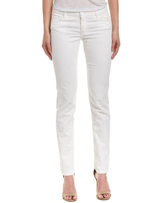 Maje - White Straight Corduroy Pant - Lyst