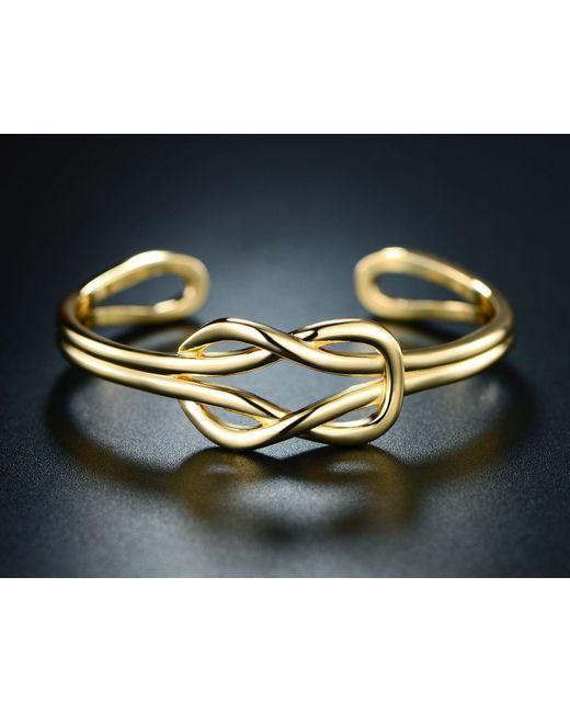 Peermont - Metallic Gold Love Knot Cuff - Lyst