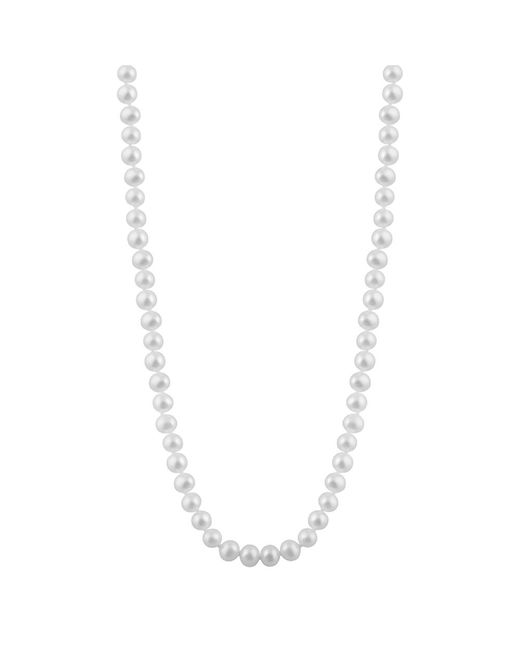Splendid - White Freshwater Pearl Necklace - Lyst