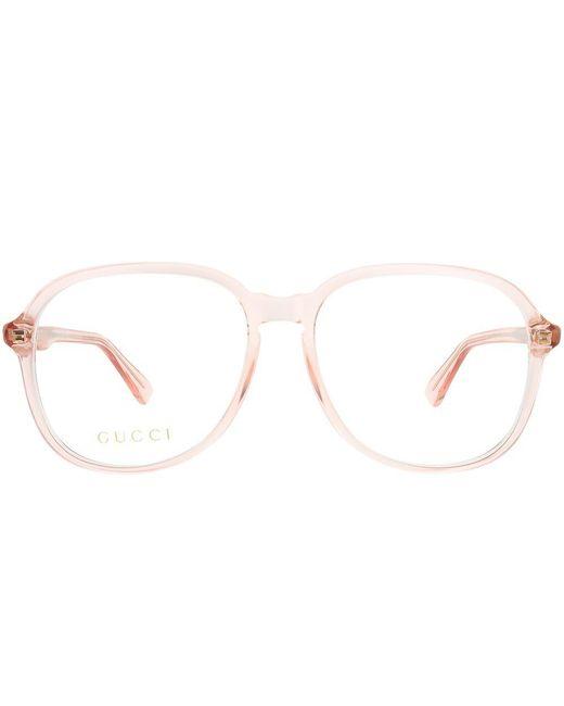 77e1c95854 ... Gucci - Multicolor Gg0259o 005 Fuchsia Square Eyeglasses - Lyst ...