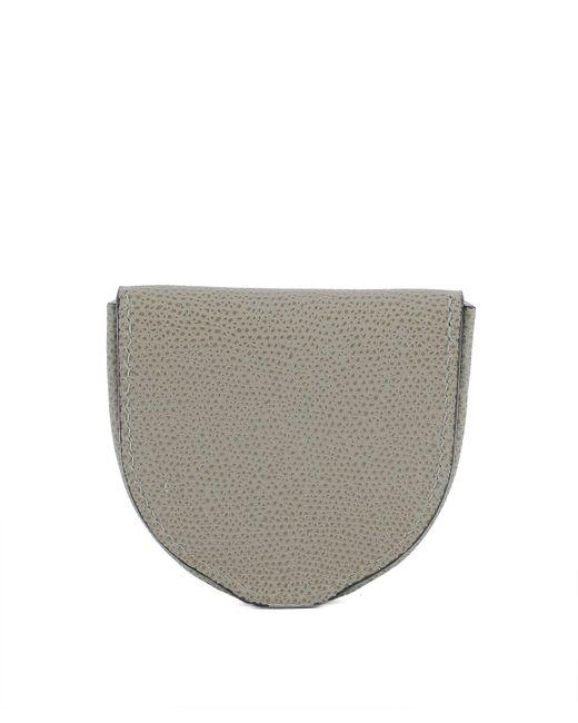 Valextra - Gray Women's Grey Leather Wallet - Lyst