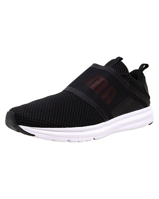 db5484df163 PUMA - Black Men s Enzo Strap Mesh Ankle-high Fabric Fashion Sneaker for Men  -