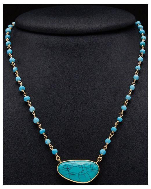 Argento Vivo - Blue 18k Plated Gemstone Beaded Necklace - Lyst