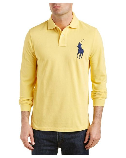 Ralph Lauren   Yellow Polo Custom Fit Polo Shirt for Men   Lyst